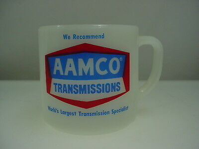 Vintage Aamco Transmissions Advertising Mug Federal Milk Glass Mug