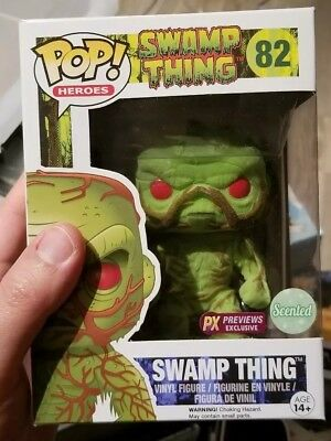 Swamp Thing Funko Pop 82 Flocked And Scented
