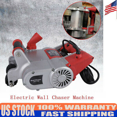 1100W Red Electric Wall Chaser Concrete Cutter Notcher Groove Cutting Machine US