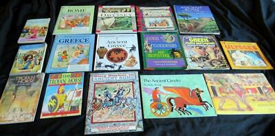 16 ANCIENT GREECE ROME Greek Roman God Myth CHILDREN BOOK LOT Teacher  Set