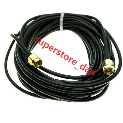 Extension Cable SMA Male to SMA Male plug Connector RG174 Antenna Wifi