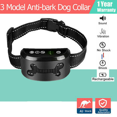 2019 Auto Anti Bark Collar Stop Dog Train Barking Waterproof Rechargeable Safe