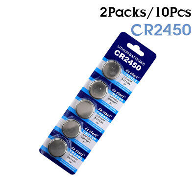 CR2450 DL2450 BR2450 LM2450 5029LC 3V Button Coin Cell Battery Bulk Lot 10Pcs B