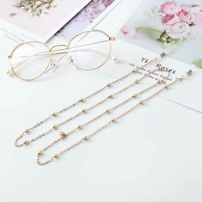 Sunglasses Chain Reading Glasses Hanging Neck Cord Holder Chain Gold Silver