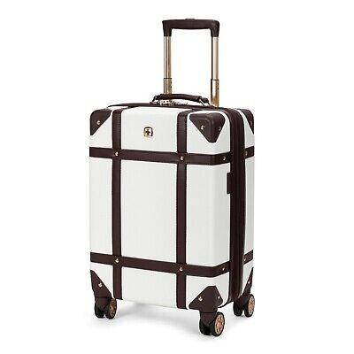 """New Swissgear 19"""" Trunk Hardside Carry On Suitcase Luggage Backpack Bag Travel"""