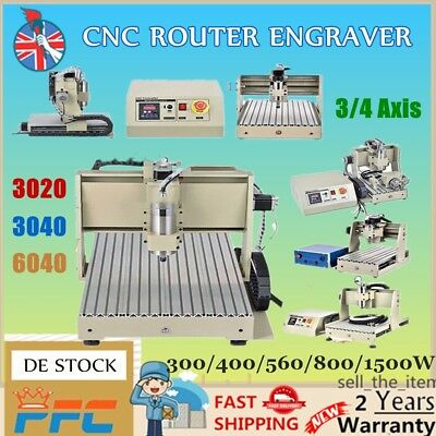 6040/3040/3020 3/4Axis 800/1500W USB CNC Router Engraver 3D Engraving Machine