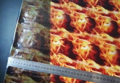 """FLAME FIRE RED high quality Hydrographic Film Water Transfer Printing 393x19"""" IN"""