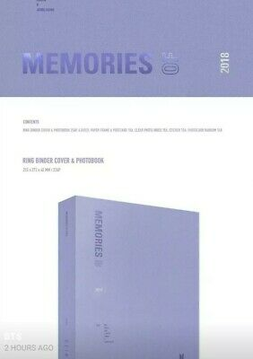 BTS MEMORIES OF 2018 no photocard dvd