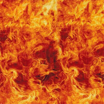 """FLAME FIRE high quality Hydrographic Film Water Transfer Printing 393x19"""" ORANGE"""