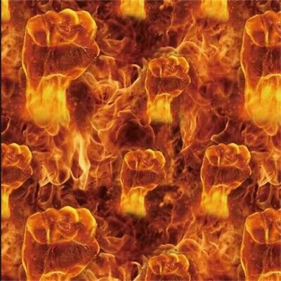 """FLAME BOXER high quality Hydrographic Film Water Transfer Printing 393x19""""ORANGE"""