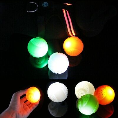 LED Silicone Pet Luminous Ball USB Rechargeable 3Colors Dog Toy Bite Chew Toy