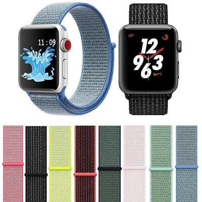 Woven Nylon Sport Loop iWatch Band Strap Bracelet For Apple Watch Series 1/2/3/4