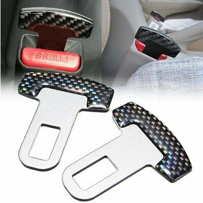 2x Universal Car Aid Safty Seat Belt Buckle Alarm Stopper Clip Canceller Clamp