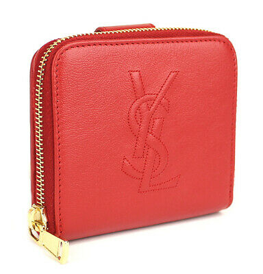 af0c57ac756 YVES SAINT LAURENT YSL Leather Zip Around Compact Bifold Wallet 46257 from  Japan