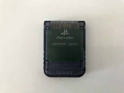 Sony PlayStation 1 Memory Card Charcoal SCPH1020 Ps1 Pal