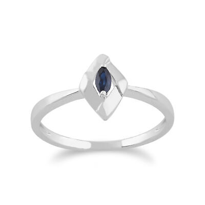 Gemondo 925 Sterling Silver 0.10ct Sapphire Crossover Ring