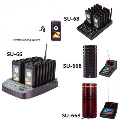 10/16/20Pcs Coaster Pager Wireless Calling System for Restaurant Shop Food Truck