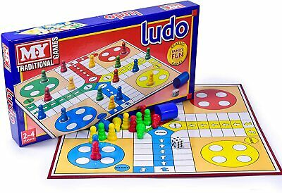 Full Size Traditional Board Game Ludo Indoor Family Kids Game Birthday Gift New