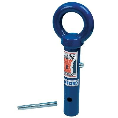 Oxford Terra Force Motorbike Motorcycle Sod Secure Ground Anchor Blue OF442