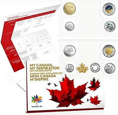2017 Canada 150 - 8 coin set: uncirculated set - My canada my inspiration