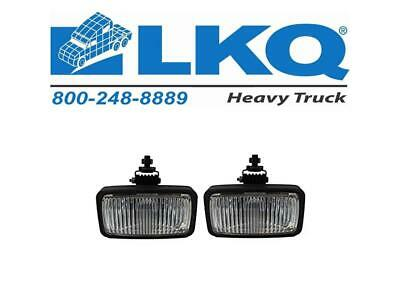 Set of 2 Clear Lens Fog Light For 2000-11 International 9100i/9400i SBA LH & RH
