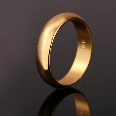 New Engagement Fashion Gold Hot Bands Steel Titanium Wedding Ring Plain Silver