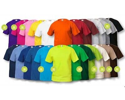 5 T Shirt Colorate Fruit Of The Loom Uomo Donna Unisex Magliettina