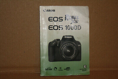 Canon Eos Rebel Xs 1000D Digital Slr Camera Owners Instruction Manual