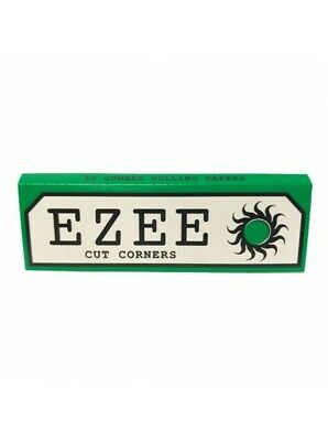 1/5/10/20/50 Ezee Green Cigarette Smoking Rolling Papers Like Rizla and Zig Zag