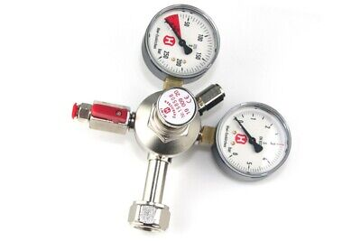 Hiwi pressure regulator for beer CO2 systems, single line, 2 manometers