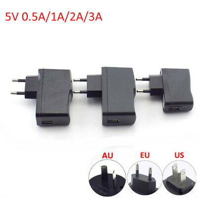 AC/DC Power Adapter supply 5V 0.5A/1A/2A/3A USB Port For LED Strip Lights Phone