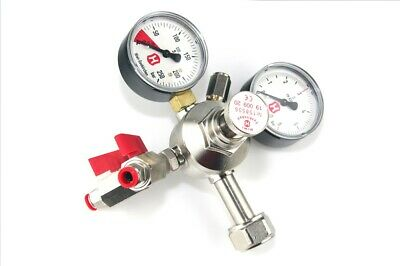 Hiwi pressure regulator for beer CO2, two dispenser lines, 2 manometers