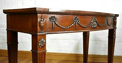 Antique style carved bow front side table - console table - hall table
