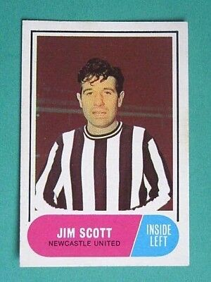A&Bc 1969/70 Football Card # 77.  Jim Scott - Newcastle United.  Green Backs