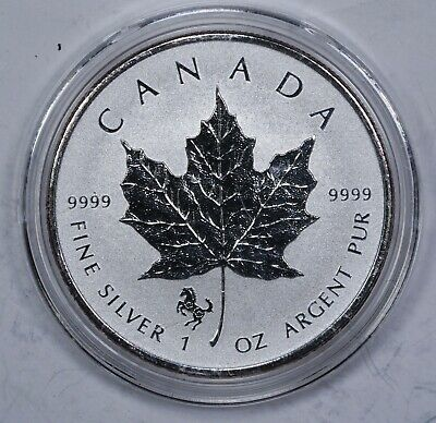 2014 Canada $5 Maple Leaf Horse Privy 1 oz. Silver Coin with capsule!