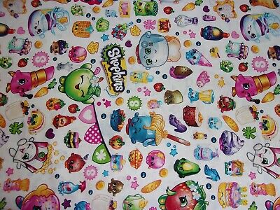 New Hand Made Shopkins Toss Fitted Crib/Toddler Sheet