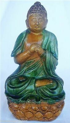 Chinese Ming Dynasty Ceramic Figure of Buddha 9 3/4inches high Antique  (4302)