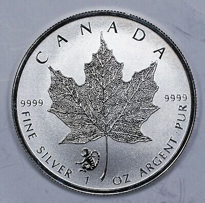 2016 Canada $5 Maple Leaf Monkey Privy 1 oz. Silver Coin with capsule!