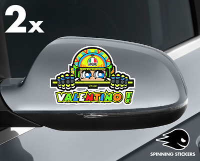 2x Valentino Rossi VR46 46 Yamaha MotoGP Stickers Decal Vinyl Logo with LAMINAT