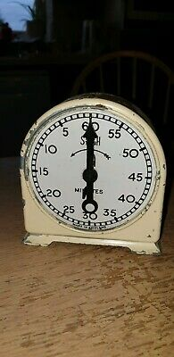 Rare Vintage Smiths English Clock Systems Timer Winding from front Working Order