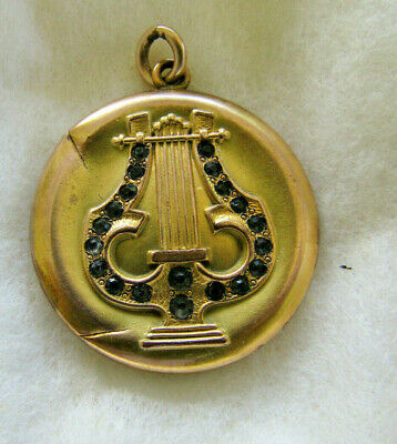 Rare Antique Art Nouveau Gold Fill Locket Ornate Victorian Repousse S&BL CO.