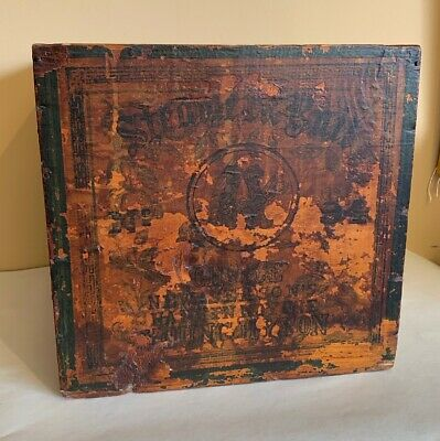 New Season's Commercial Tea Crate Box No 94 Original Chinese Young Hyson Antique
