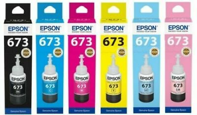 Genuine original Epson EcoTank multipack 673 ink T6731-T6736 L800 L805 L810 L850