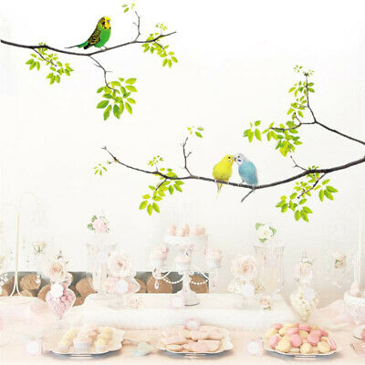 Vivid Wall Decals Birds on Tree Peel and Stick Fresh Removable Wall Stickers US
