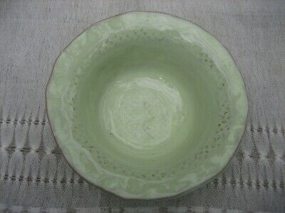 VIETRI BELLEZZA Celadon Green Earthenware Four Fruit/Dessert Bowls Made In Italy