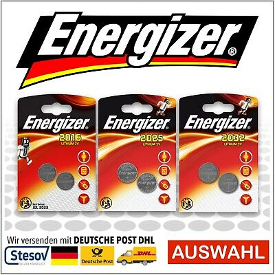 2 x Energizer CR2016 CR2025 CR2032 Button Cell Batteries Pack