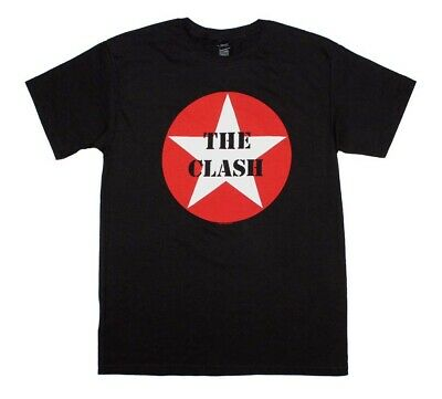 The Clash Star Logo Black T-Shirt Men's Officially Licensed Band Tee
