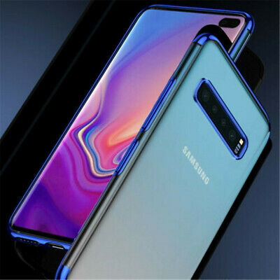 Plating Soft Rubber Clear Slim Case Cover For Samsung Galaxy S10 S10 Plus S10e