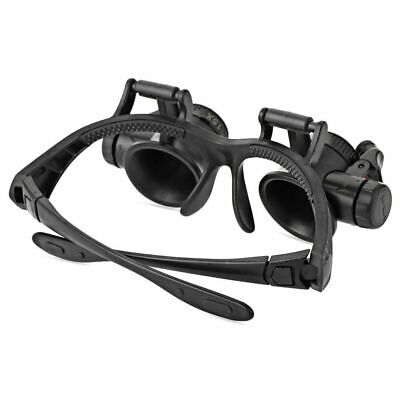 New 8 Lens Magnifiers Magnifying Eye Glass Loupe Jeweler Watch Repair LED Light