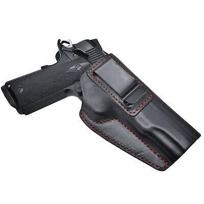 """1911 IWB Kimber, Springfield, Single Stack Concealed Carry Leather Holster 5"""""""